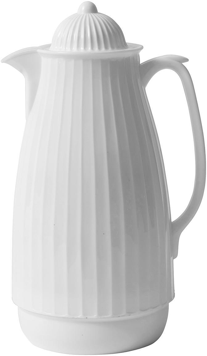 Termo Juggie, Exterior: plástico, Interior: vidrio, Blanco, 1 L