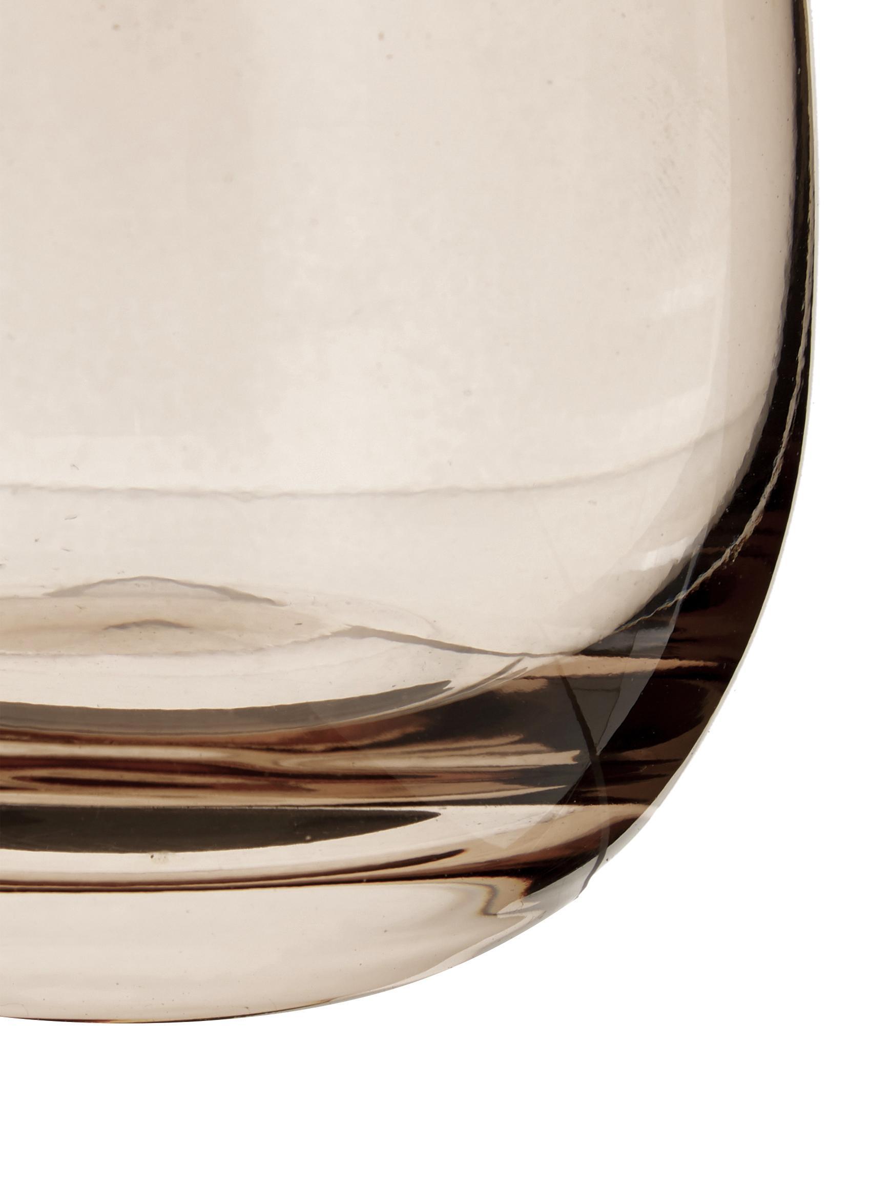 Verres à eau bruns qualité supérieure Sora, 6pièces, Brun clair