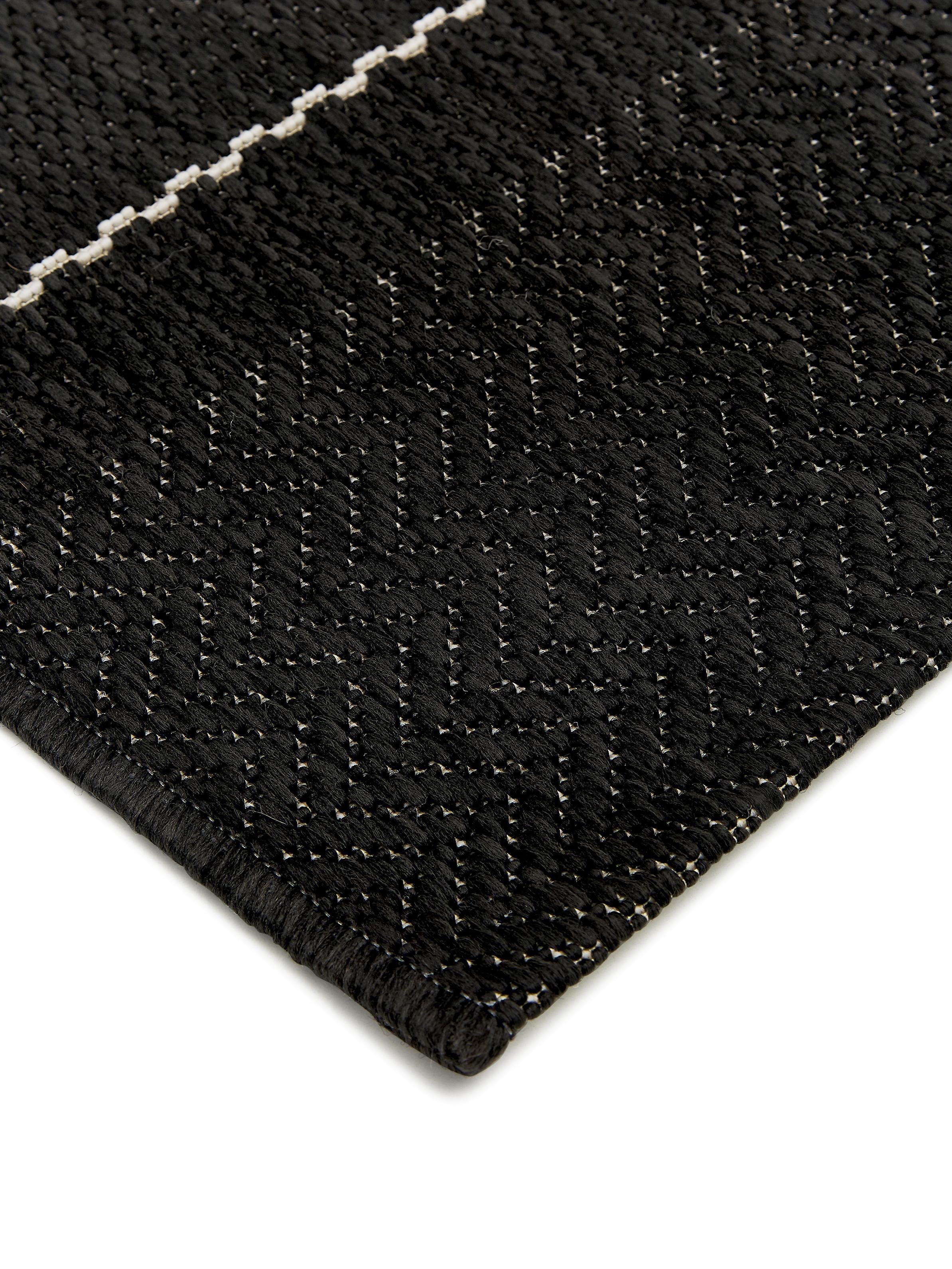 Alfombra Fürth I - negro, 200 X 80cm, Negro, crema, An 80 x L 200 cm