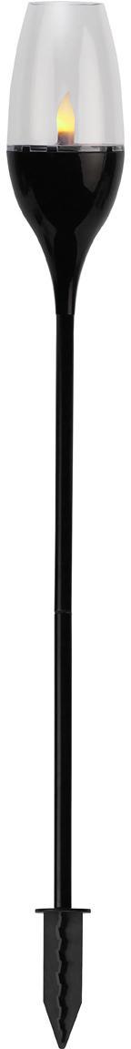 Lampada solare a LED da esterno Athens, Materiale sintetico, acrilico, metallo, Nero, trasparente, Ø 8 x Alt. 62 cm