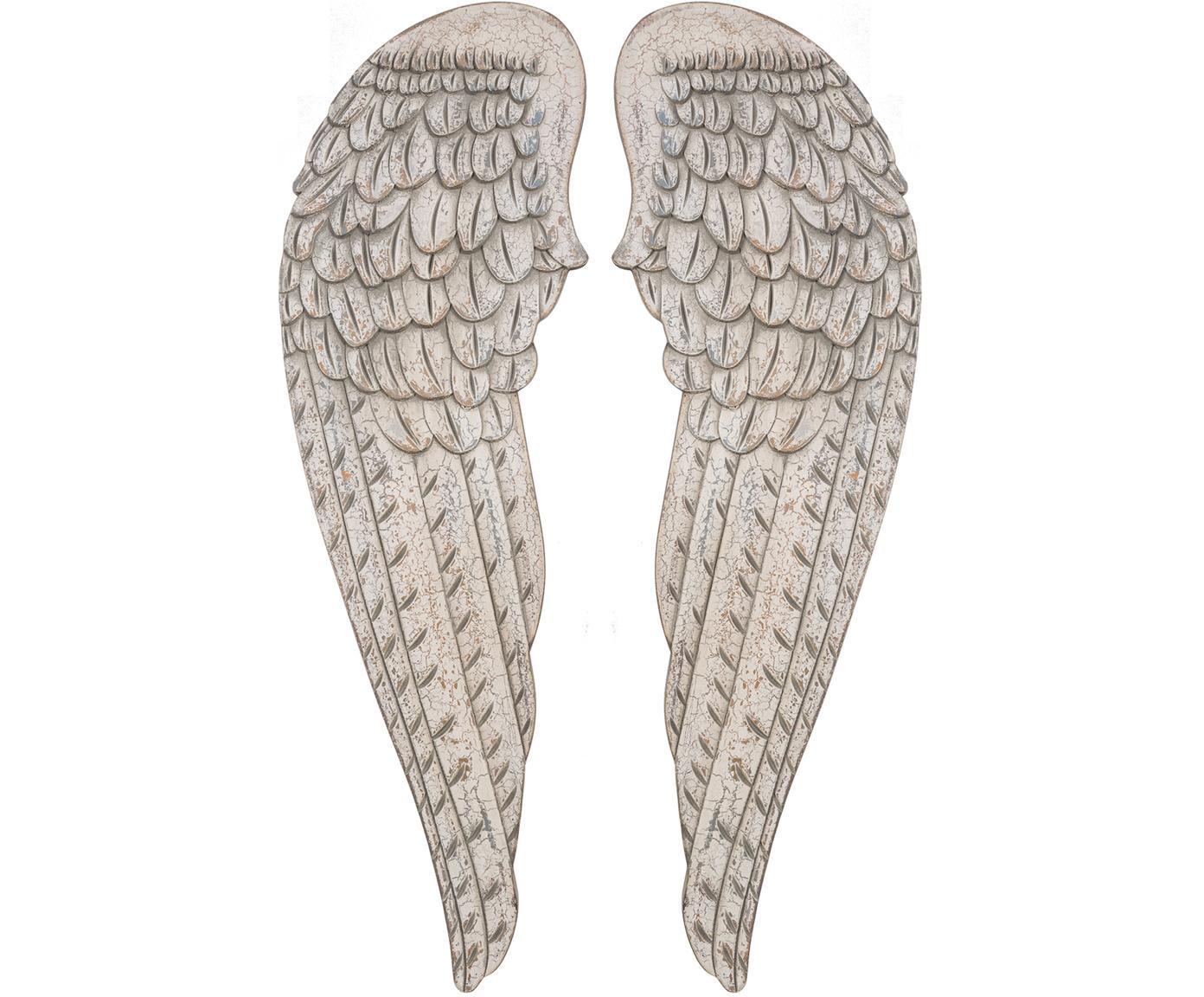 Set de decoración Fly, 2pzas., Madera, Piedra envejecido, An 32 x Al 103 cm