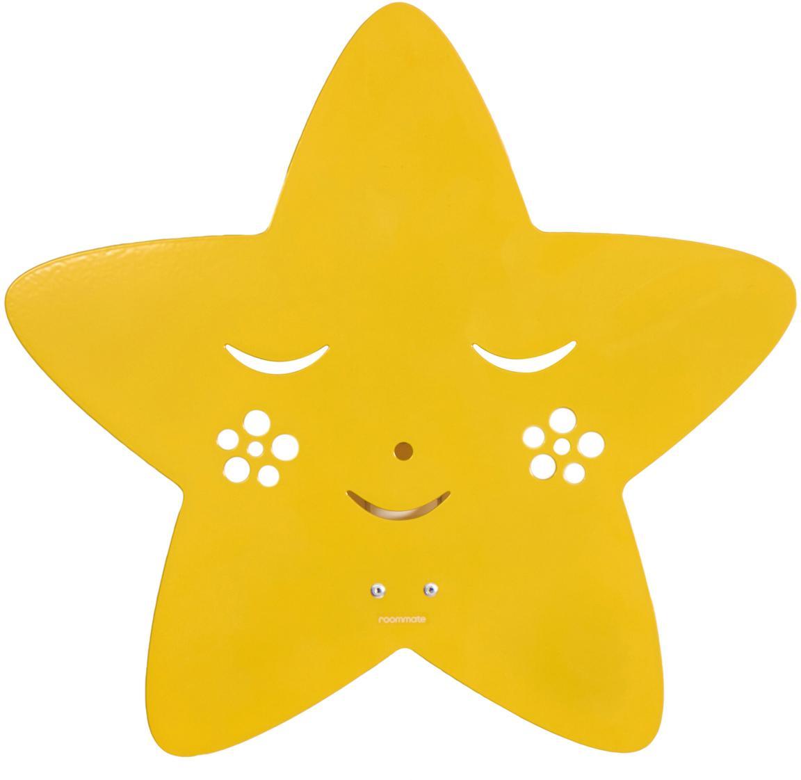 Kinkiet Star, Metal malowany proszkowo, Żółty, S 30 x W 29 cm