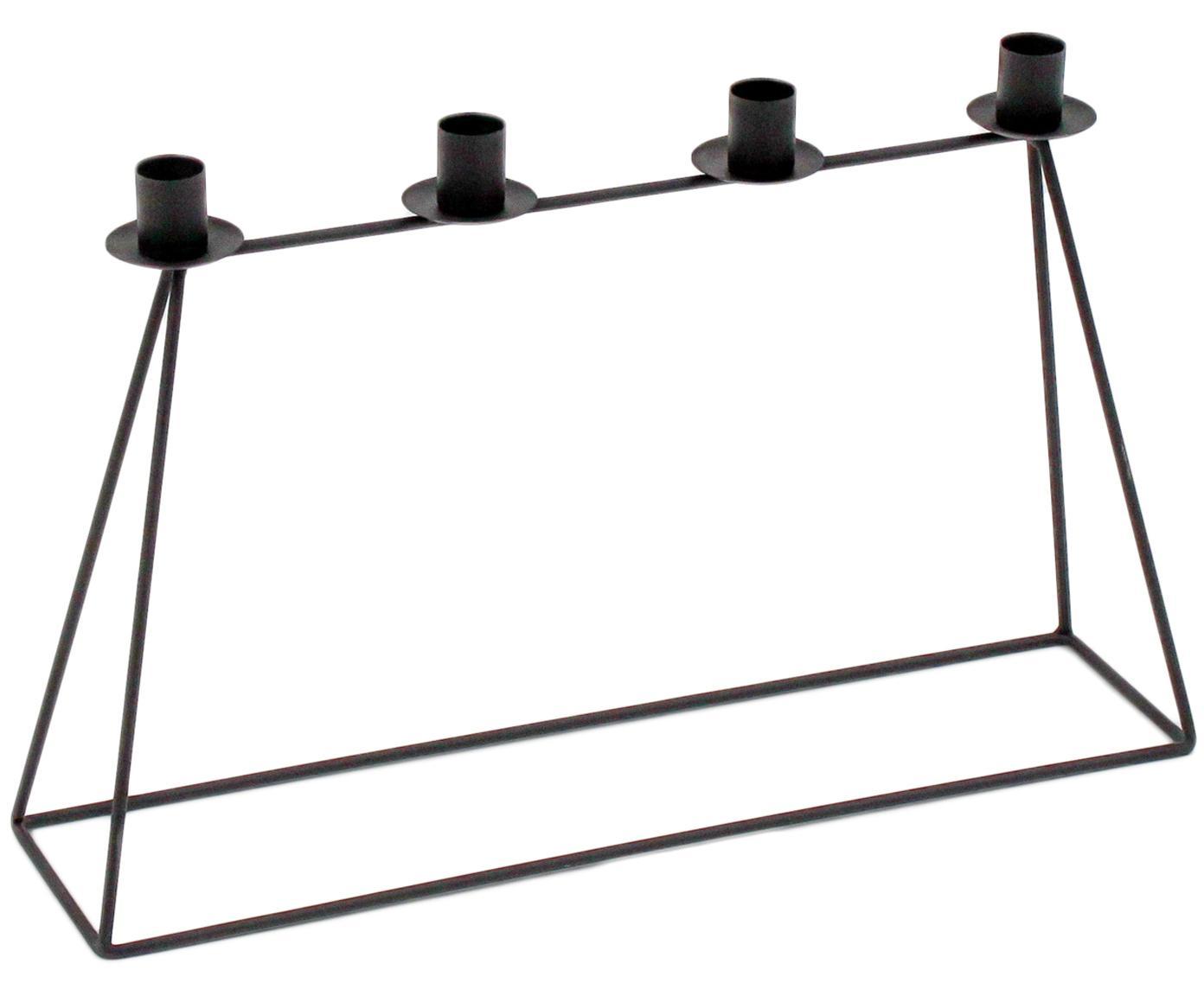 Kerzenhalter Copenhagen, Metall, lackiert, Schwarz, 45 x 29 cm