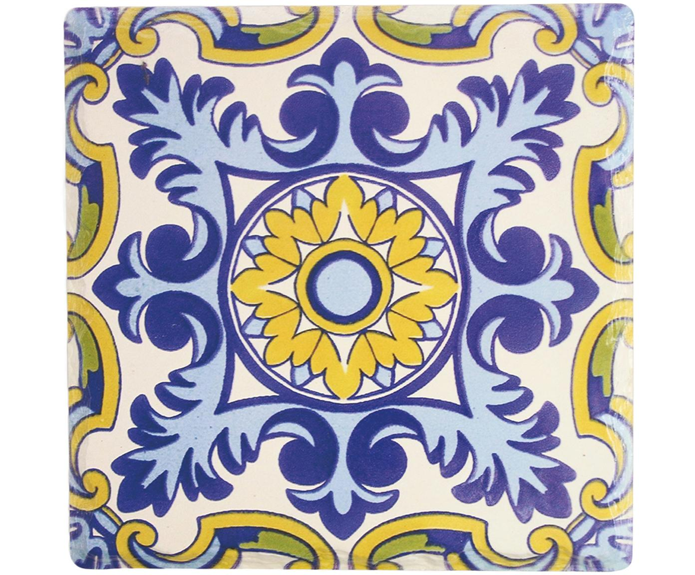 Komplet podstawek pod gorące naczynia, 4 elem., Ceramika, korek, Wielobarwny, S 16 x G 16 cm