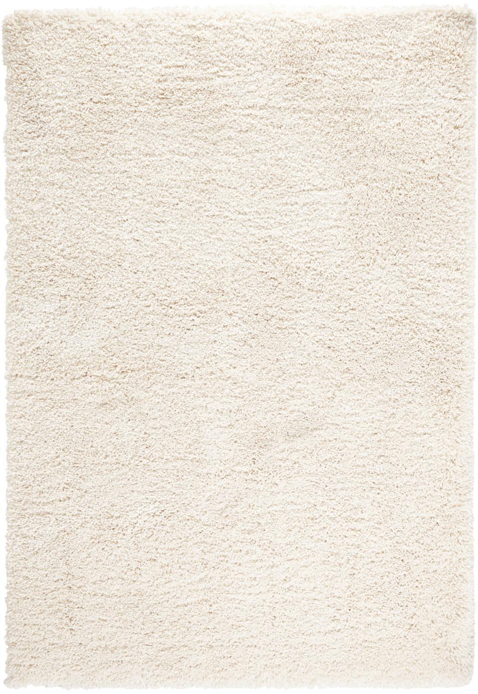 Flauschiger Hochflor-Teppich Venice in Creme, Flor: 100% Polypropylen, Creme, B 80 x L 150 cm (Grösse XS)