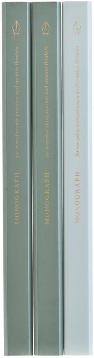 Bleistifte-Set Carpenter, 3-tlg., Holz, Graphit, Grün, Hellblau, 2 x 18 cm