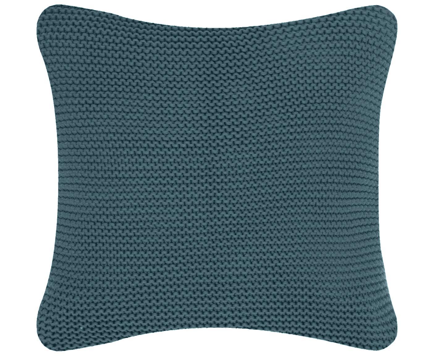 Poszewka na poduszkę z dzianiny Adalyn, 100% bawełna, Petrol, S 40 x D 40 cm