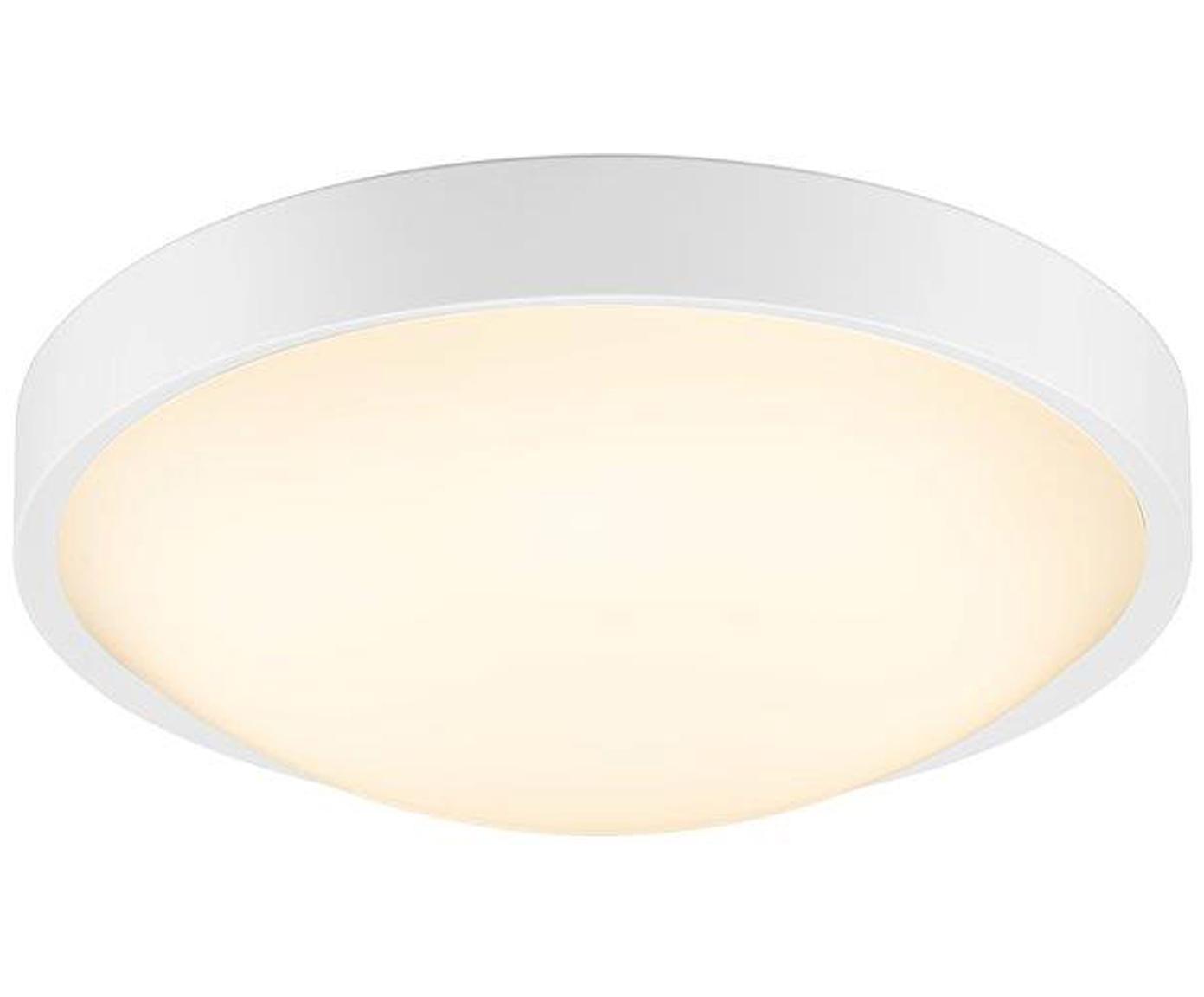 Schlichte LED-Deckenleuchte Altus, Kunststoff, Weiss, Ø 30 x H 9 cm