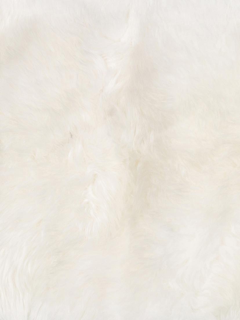 Schaffell-Teppich Oslo, glatt, Flor: 100% Schaffell, Cremeweiß, 60 x 180 cm