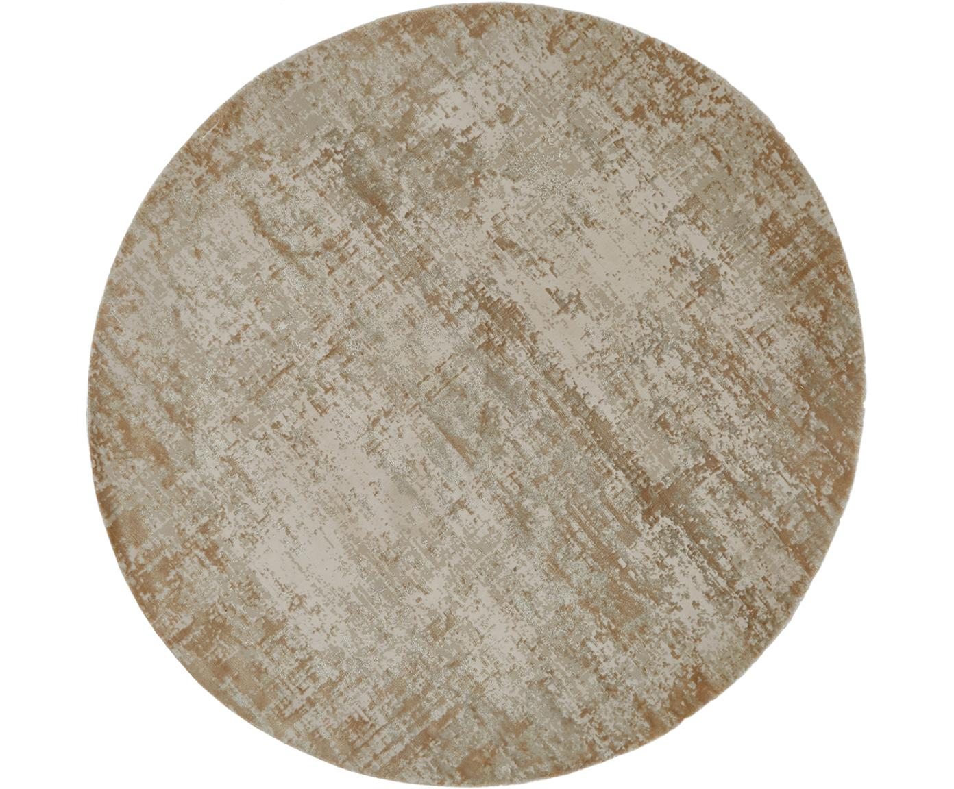 Alfombra redonda Cordoba, estilo vintage, Parte superior: 70%acrílico, 30%viscosa, Reverso: poliéster, Tonos beige, Ø 150 cm