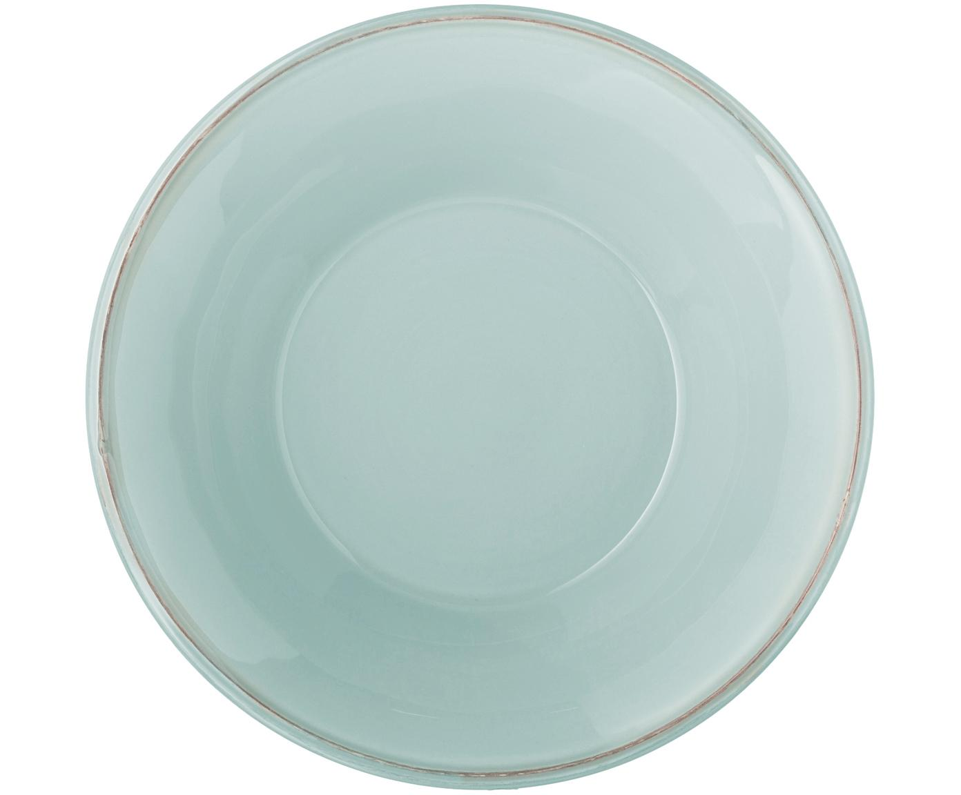 Schalen Constance in Mint im Landhaus Style, 2 Stück, Steingut, Mint, Ø 19 x H 5 cm