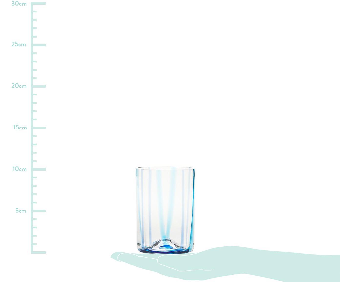 Komplet szklanek do wody ze szkła dmuchanego Tirache, 6 elem., Szkło, Wielobarwny, Ø 7 x W 10 cm