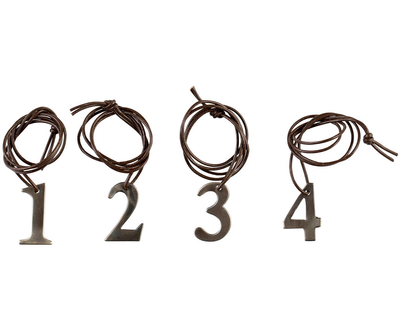Komplet zawieszek na świeczki Dana Advent Number, 4elem., Metal, brązowy, S 2 x W 3 cm