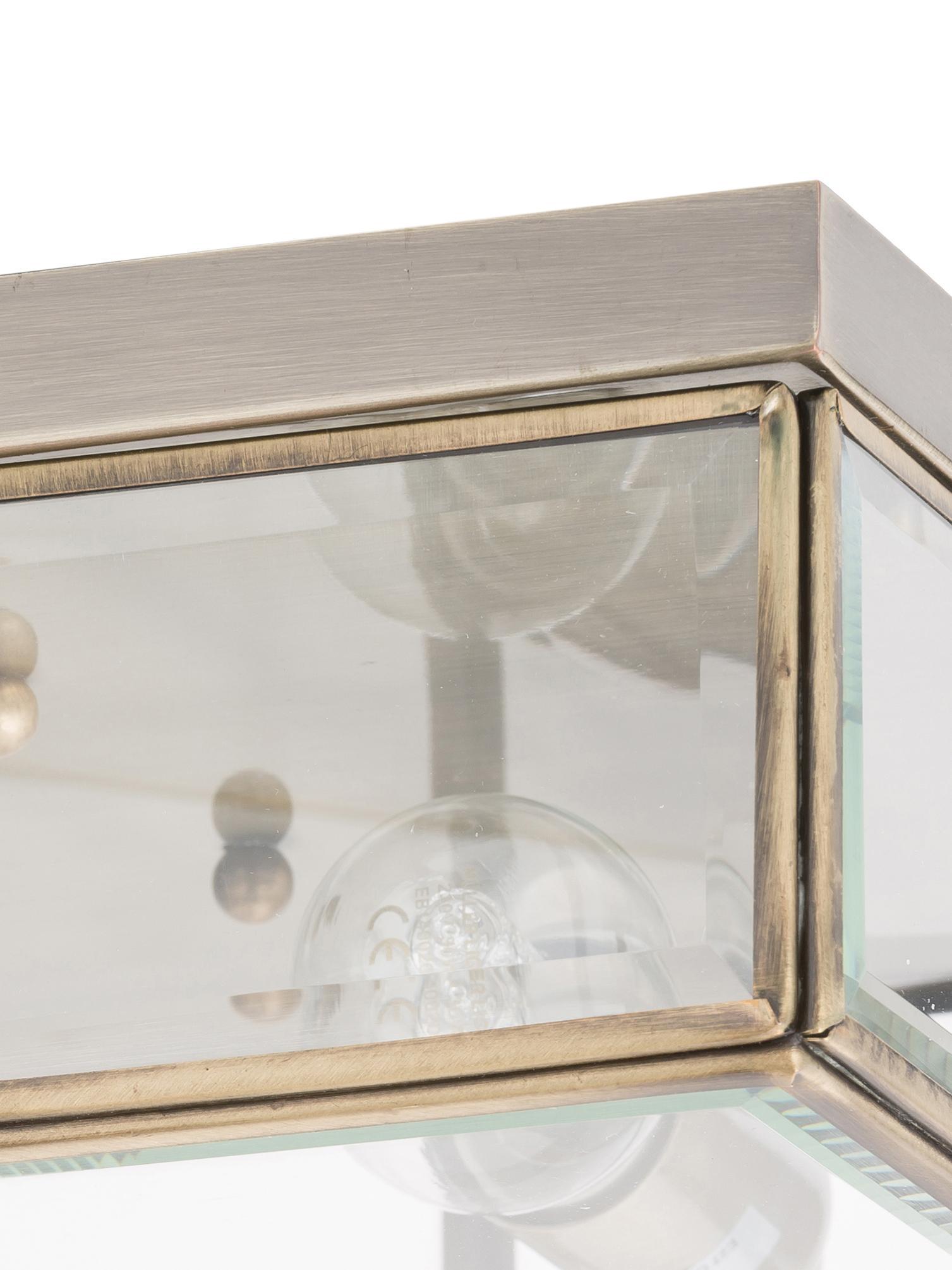 Plafonnier moderne Ben, Couleur laiton, transparent