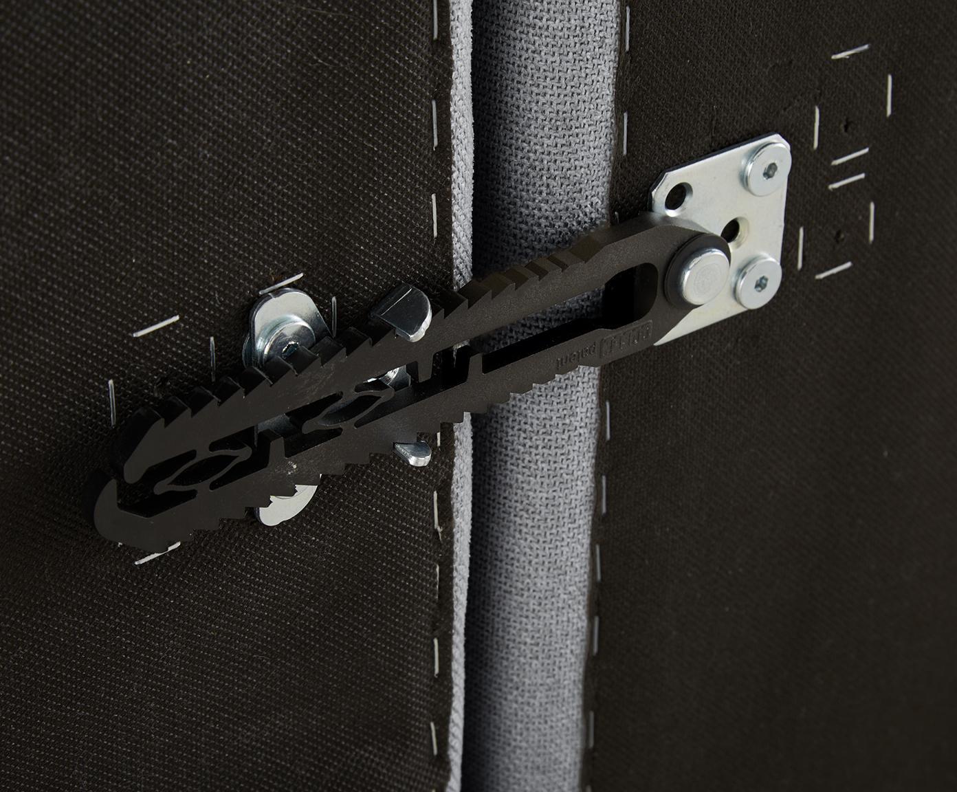 Modulaire XL chaise longue Lennon, Bekleding: polyester, Frame: massief grenenhout, multi, Poten: kunststof, Lichtgrijs, B 357 x D 119 cm