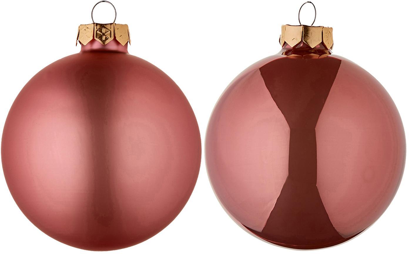 Set de bolas de Navidad Evergreen, Ø8cm, 6pzas., Rosa, Ø 8 cm