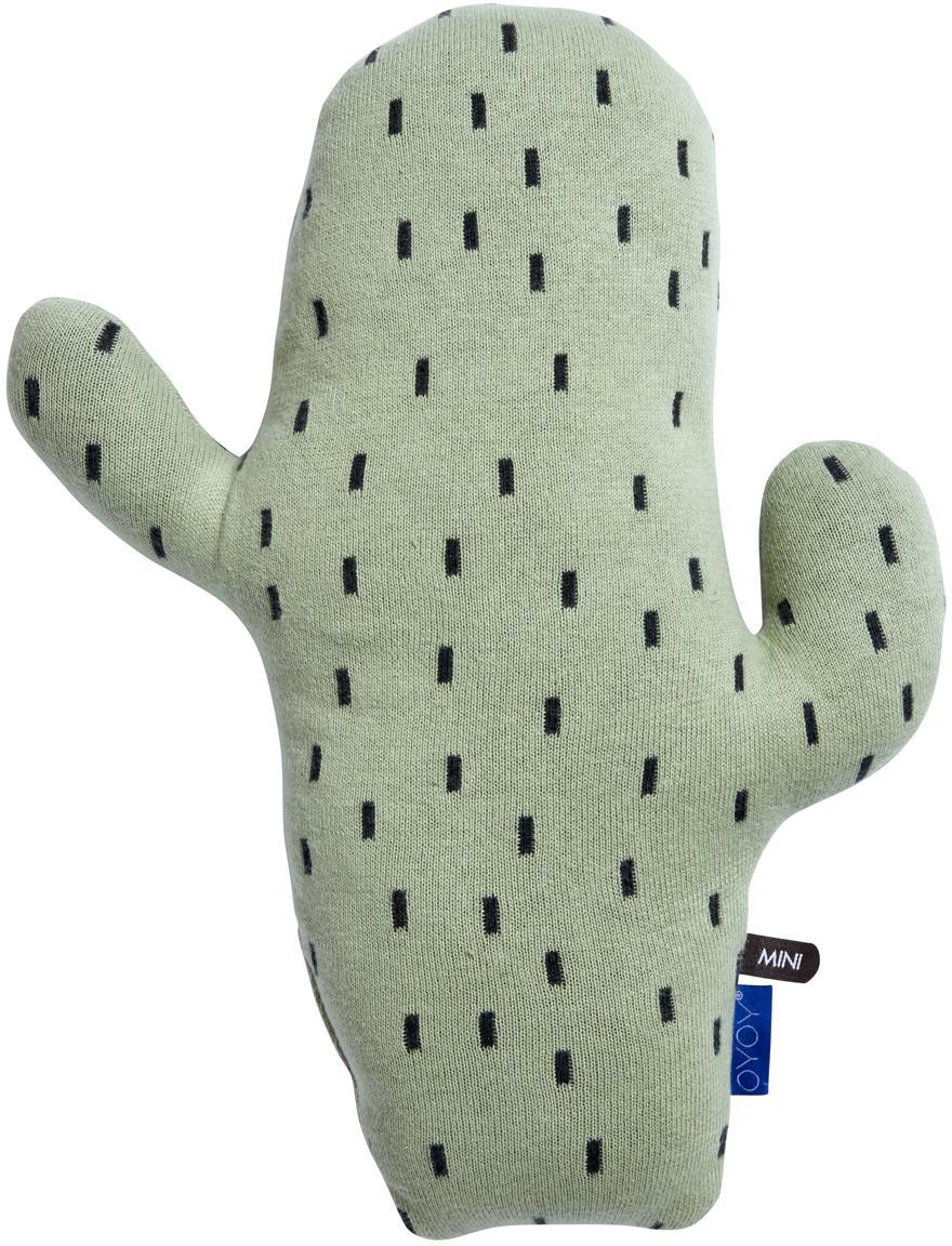 Poduszka do przytulania Cactus, Bawełna, Zielony, czarny, S 28 x W 38 cm