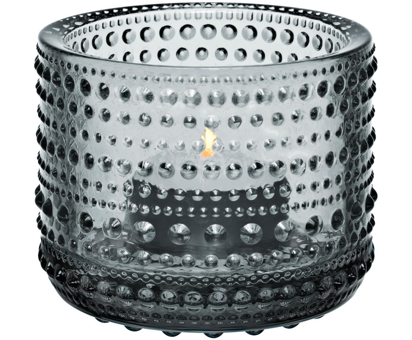 Portalumini Kastehelmi, Vetro, Grigio, Ø 6 cm