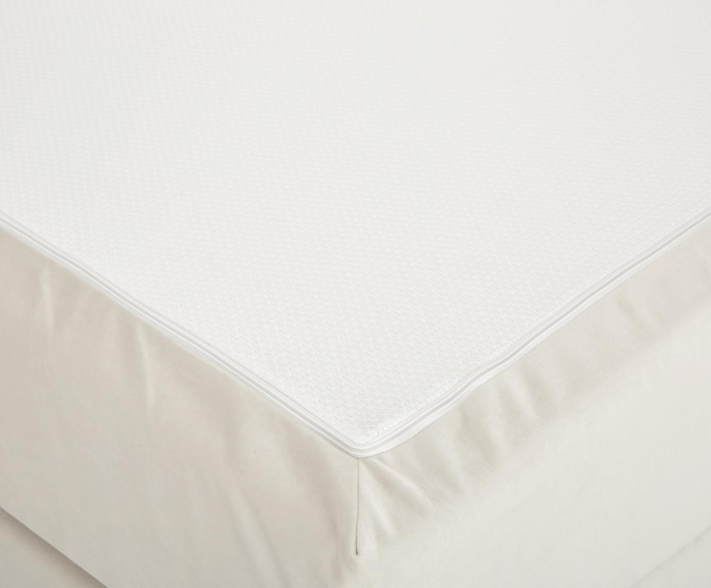 Premium Samt-Boxspringbett Lacey, Matratze: 7-Zonen-Taschenfederkern , Füße: Massives Buchenholz, lack, Beige, 140 x 200 cm