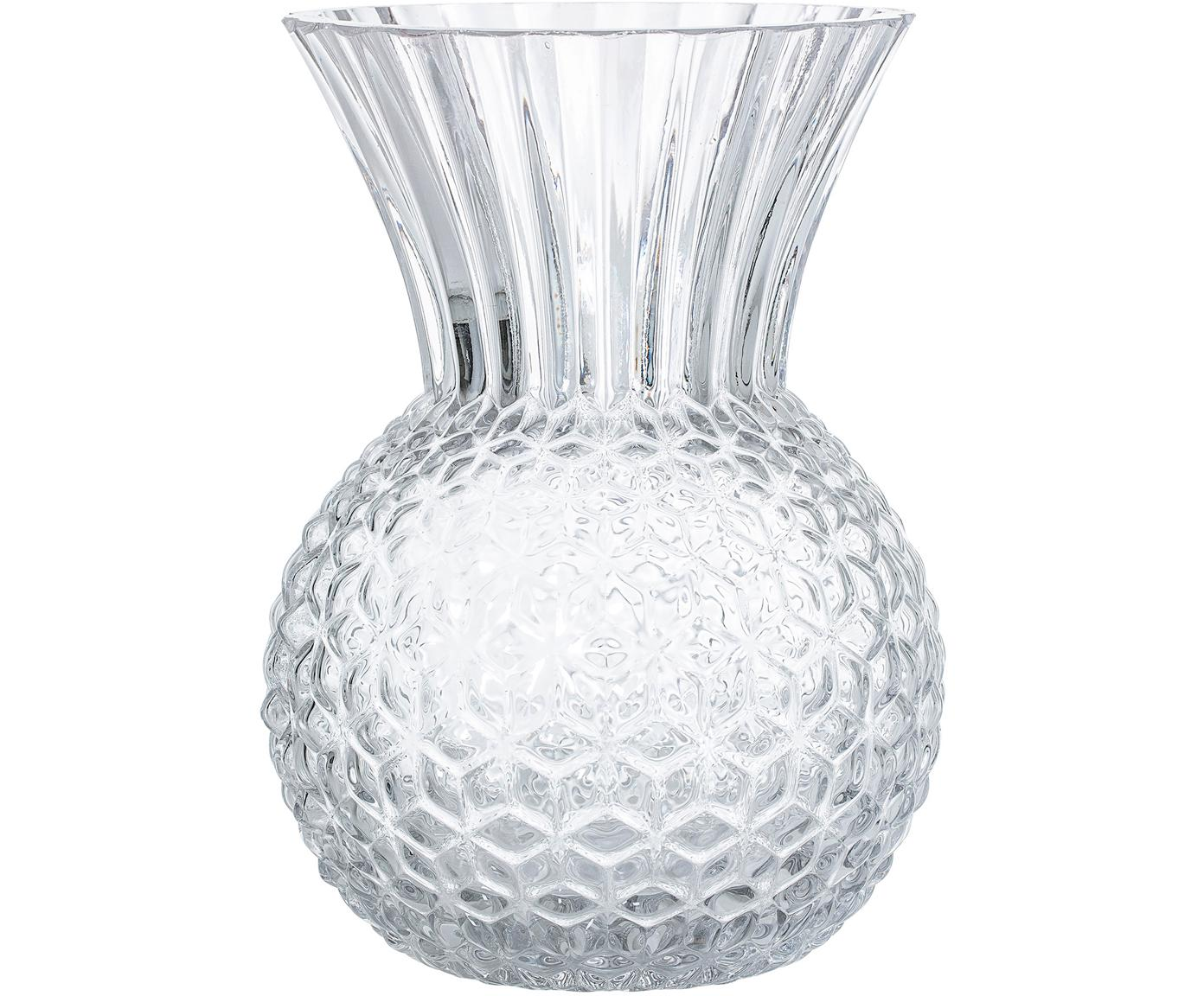 Jarrón de vidrio Clear, Vidrio, Transparente, Ø 13 cm