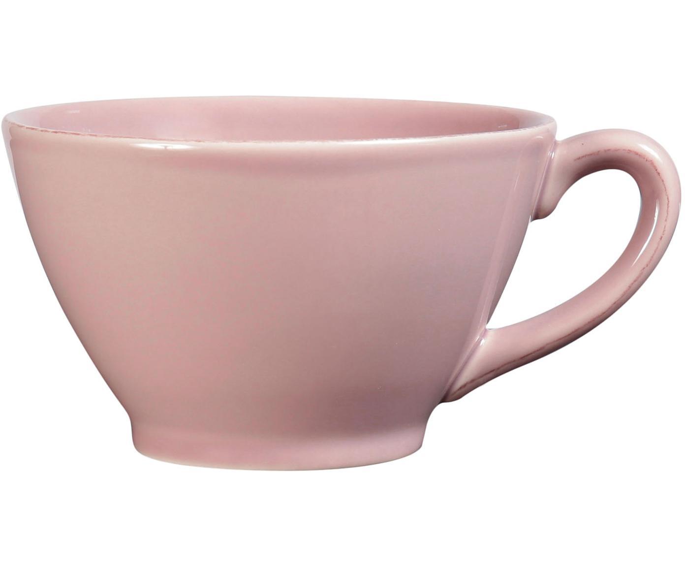 Tazza da te in rosa Constance, Ceramica, Rosa, Ø 18 x Alt. 9 cm
