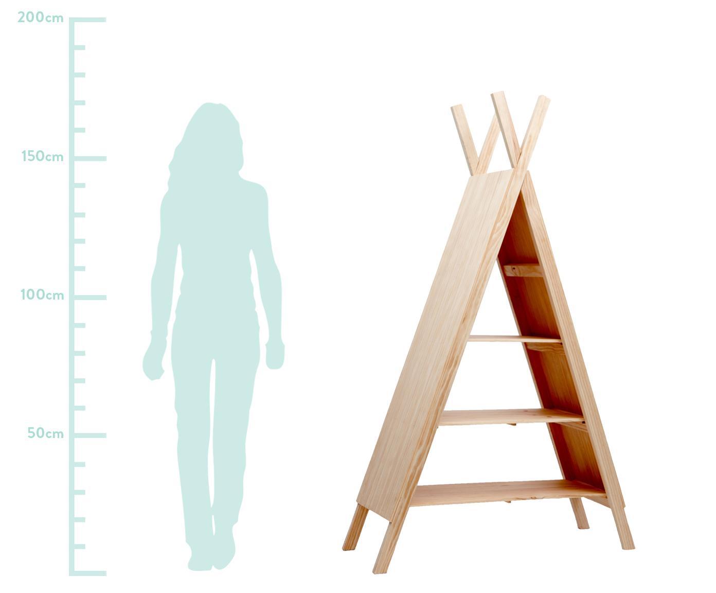 Regał Helio, Drewno sosnowe, Drewno sosnowe, S 96 x W 172 cm
