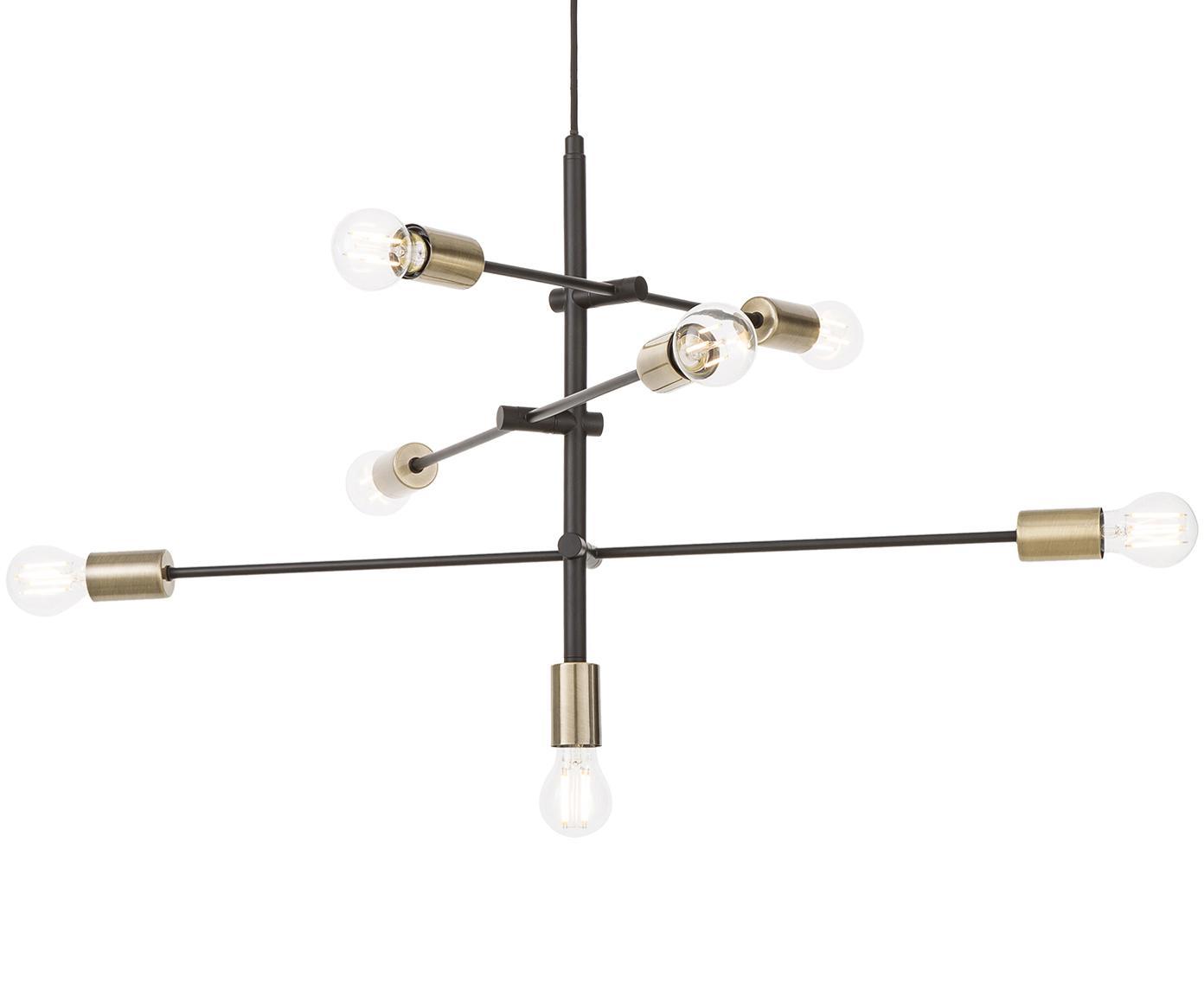 Lampa wisząca Visby, Czarny, S 84 x W 49 cm