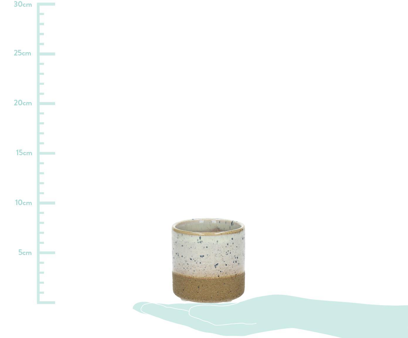 Kleiner Übertopf Suna aus Sandstein, Sandstein, Braun, Weiß, Grau, Ø 11 x H 10 cm