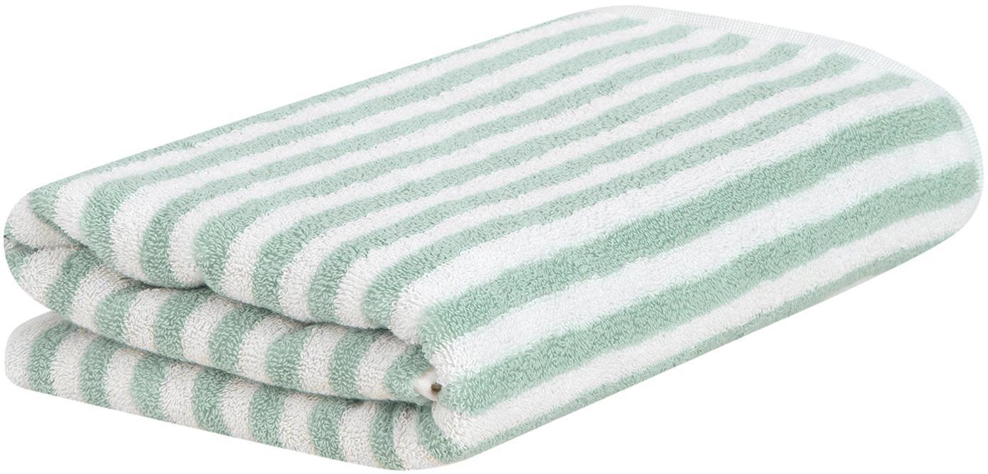 Asciugamano a righe Viola, Verde menta, bianco crema, Asciugamano