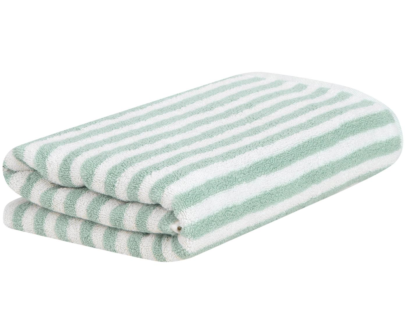 Ręcznik Viola, Miętowozielony, kremowobiały, Ręcznik do rąk