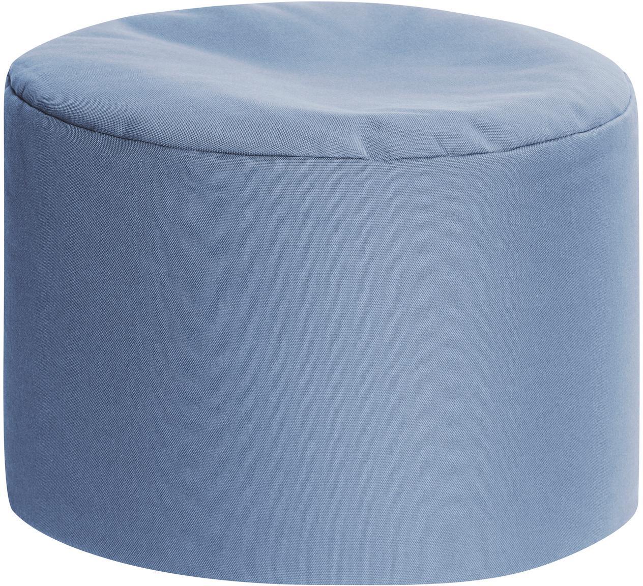 Pouf sacco da esterno-interno Dotcom, Rivestimento: 100% poliacrilico poliacr, Blu, Ø 60 x Alt.40 cm