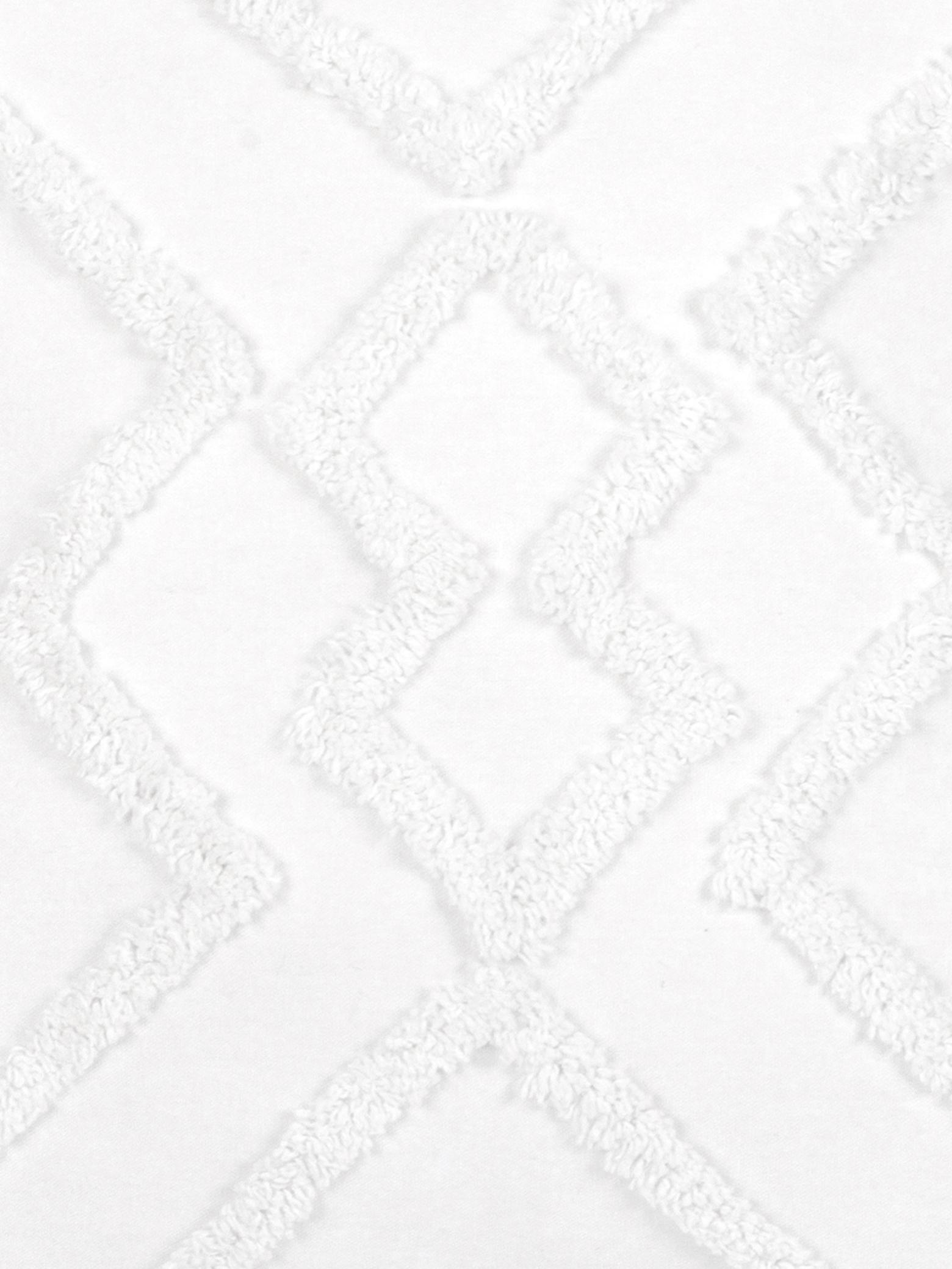 Housse de coussin 50x50 boho Faith, Blanc