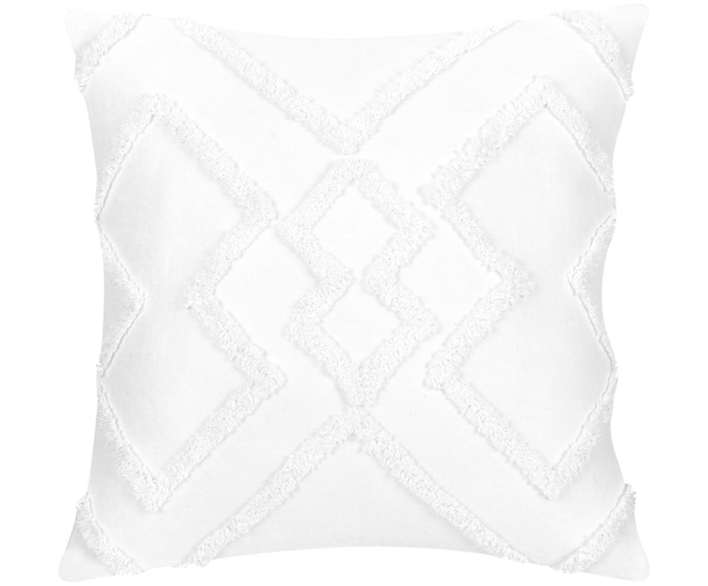 Poszewka na poduszkę Faith, 100% bawełna, Biały, S 50 x D 50 cm