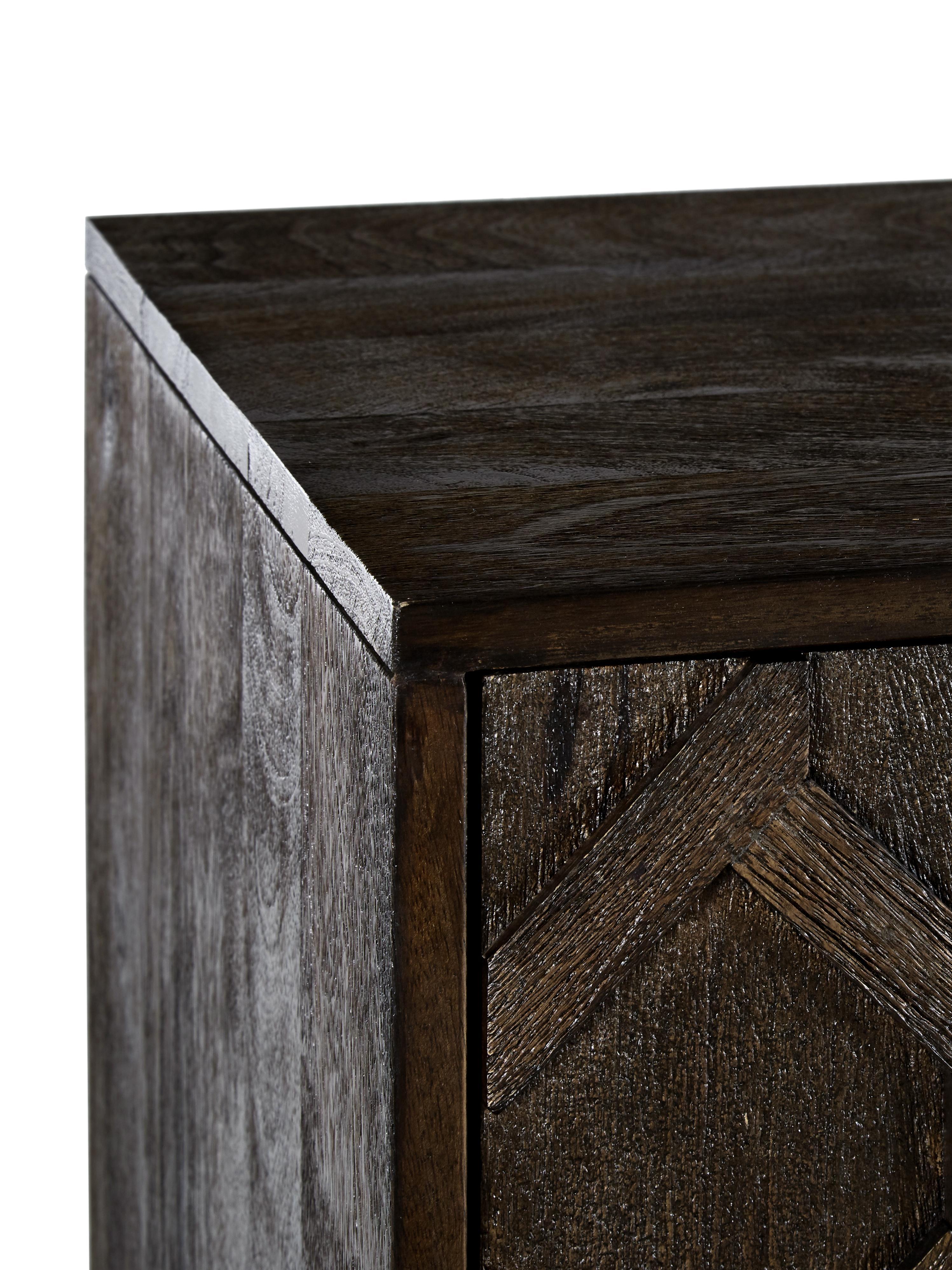 Skříňka z masivního dřeva Clive, Mangové dřevo, zlatá