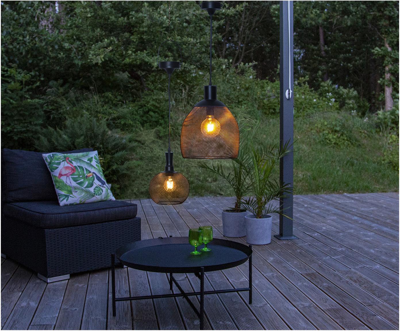 Zewnętrzna lampa solarna LED Sunlight, Czarny, Ø 19 x W 24 cm