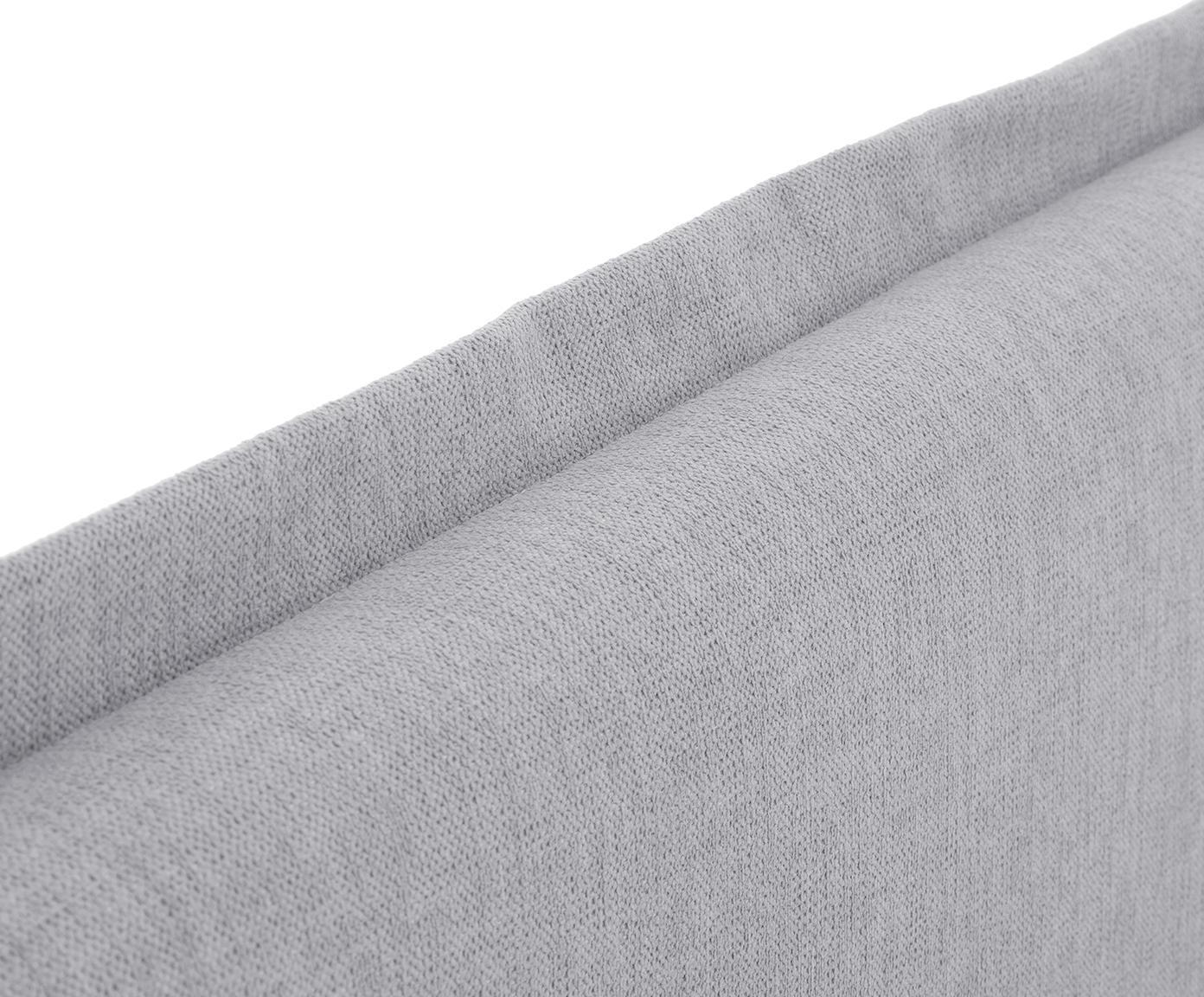 Łóżko kontynentalne premium Violet, Nogi: lite drewno bukowe, lakie, Szary, 200 x 200 cm
