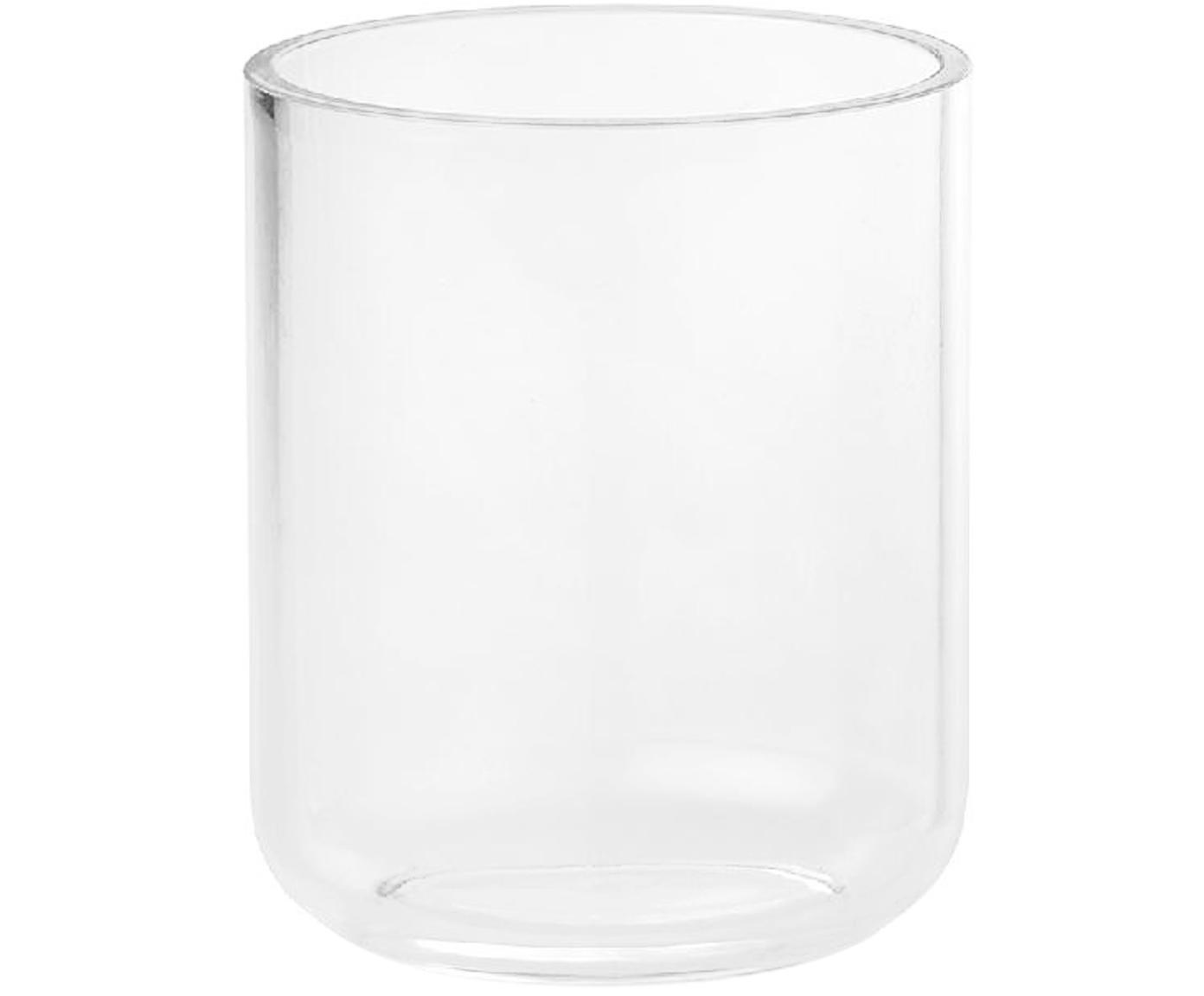 Kubek na szczoteczki ze szkła akrylowego Delan, Szkło akrylowe, Transparentny, Ø 9 x W 12 cm