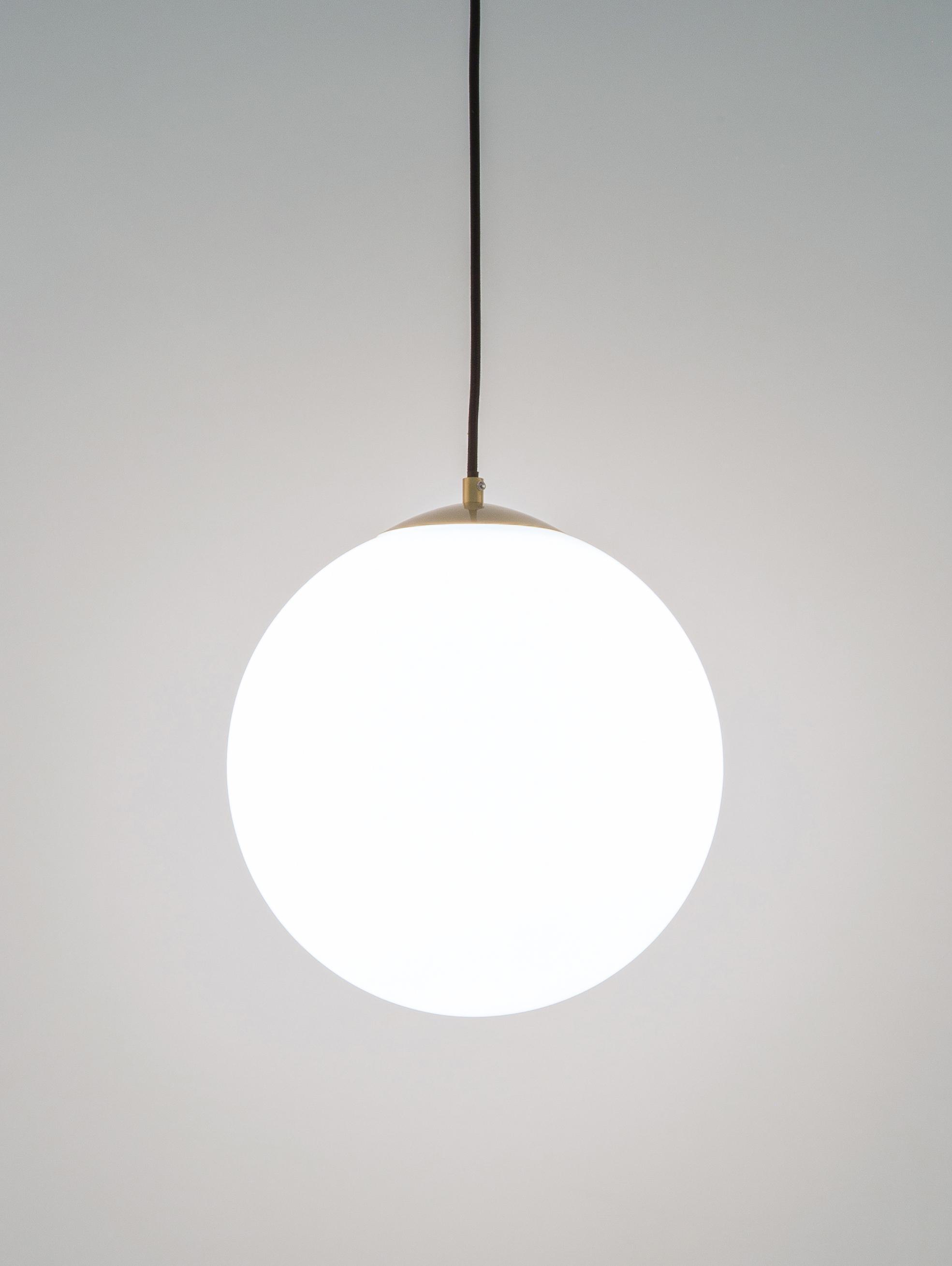 Lampa wisząca Beth, Biały, mosiądz, Ø 30 cm