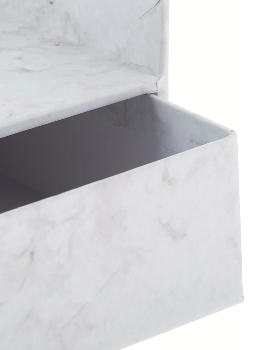 Büro-Organizer Walter, Organizer: Fester, laminierter Karto, Weiß, marmoriert, 33 x 13 cm