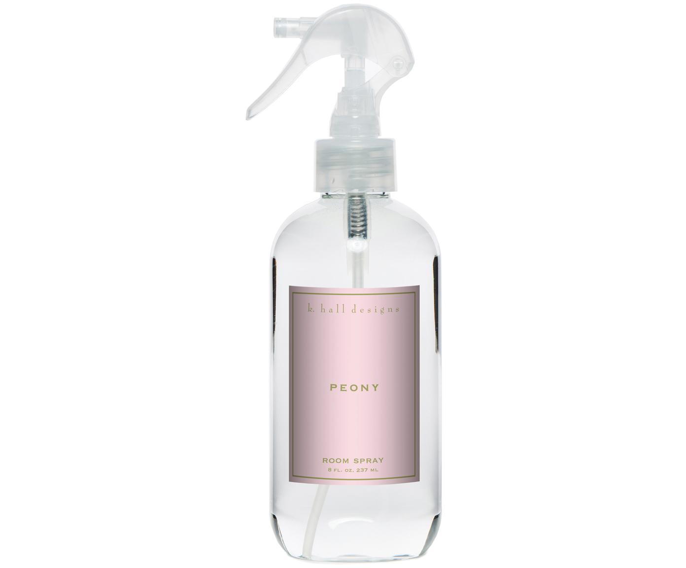 Spray per ambienti Peony (fragranze di fiori), Trasparente, Ø 5 x Alt. 24 cm