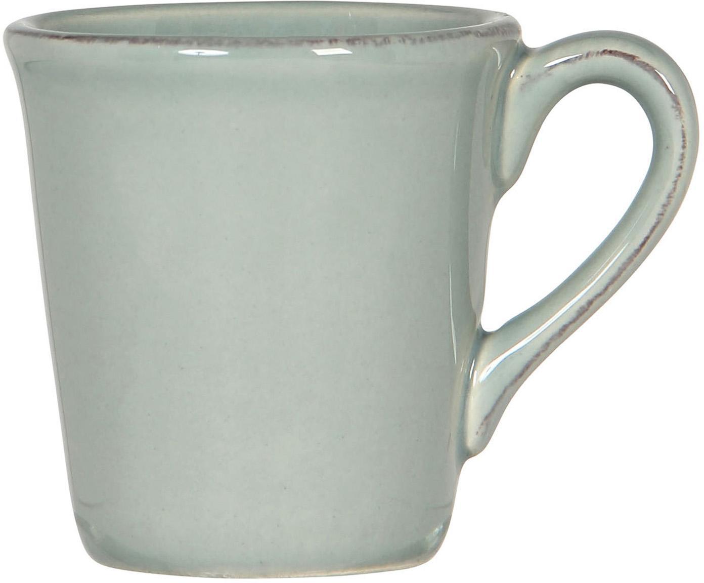 Tazas de café Constance, 2uds., Gres, Verde menta, Ø 8 x Al 6