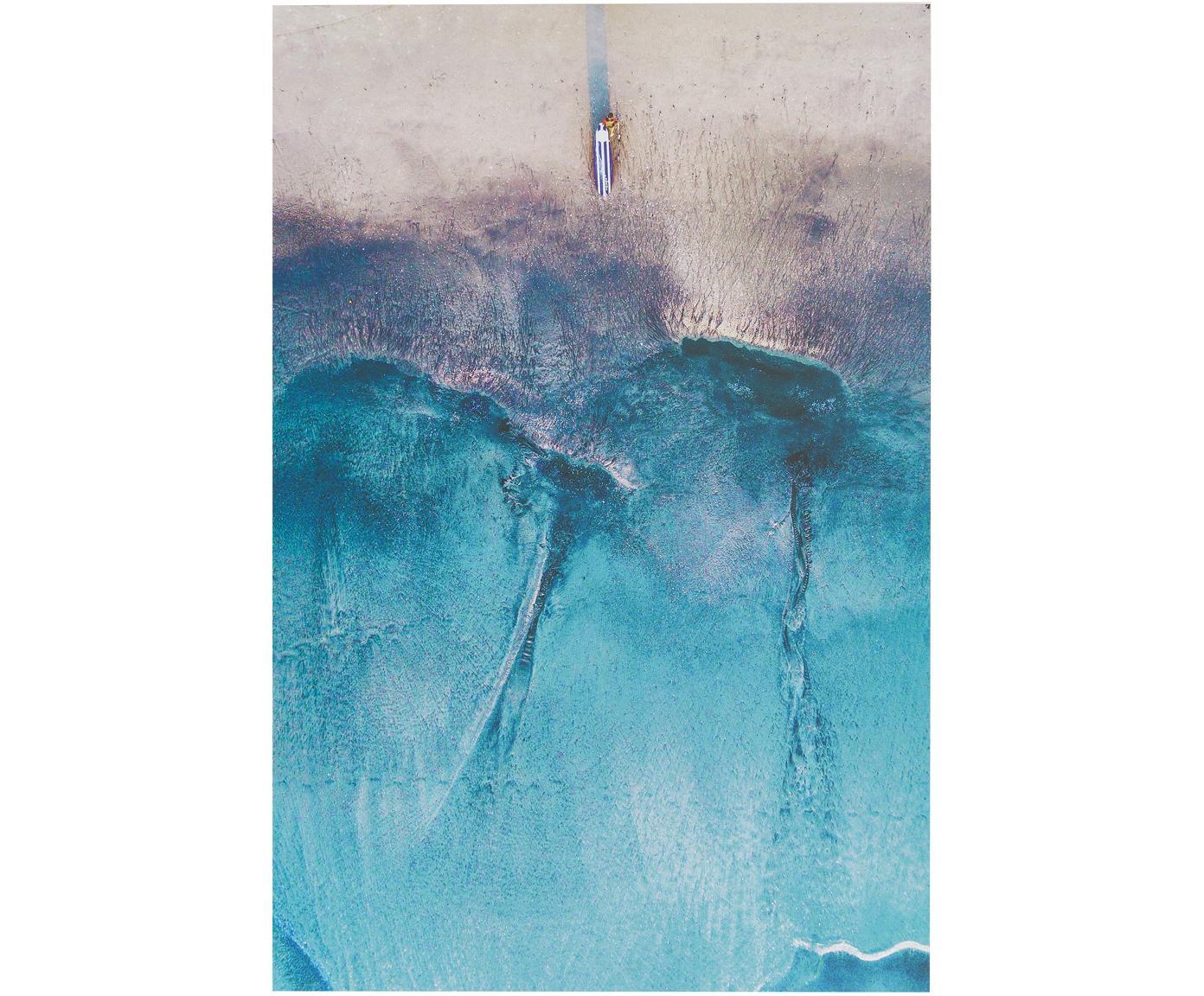 Digitale print op aluminium Ocean, Multicolour, 60 x 90 cm