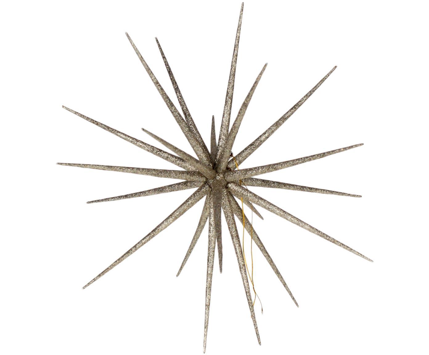 Dekoracja wisząca Sputnik, Tworzywo sztuczne, Odcienie szampańskiego, Ø 37 cm