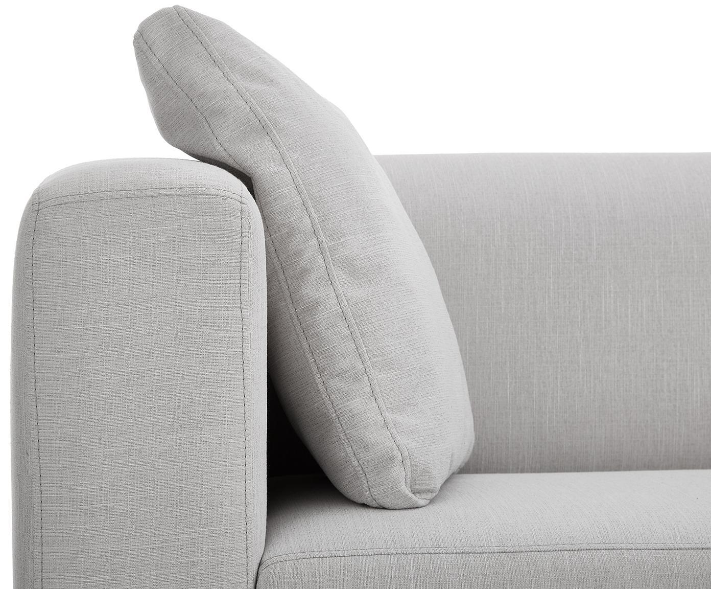 Sofa Carrie (2-Sitzer), Bezug: Polyester 50.000 Scheuert, Gestell: Spanholz, Hartfaserplatte, Füße: Metall, lackiert, Webstoff Grau, B 176 x T 86 cm