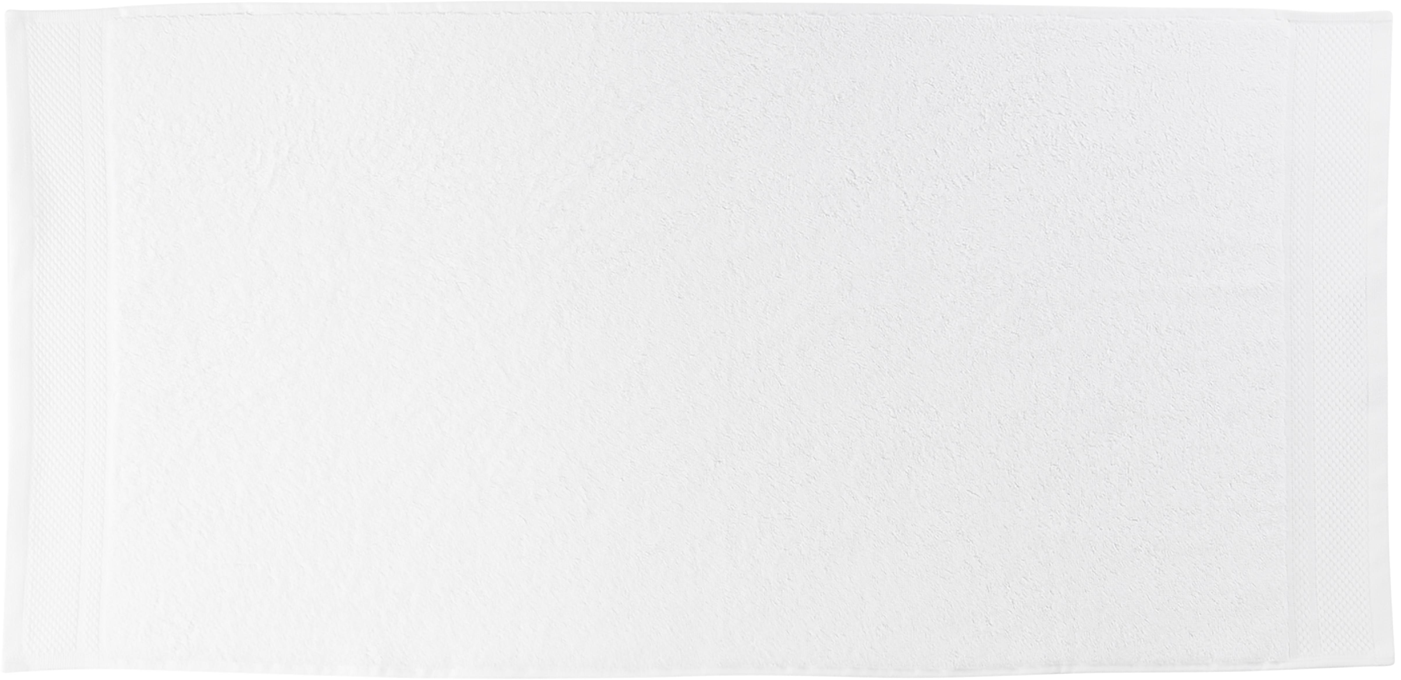 Set asciugamani con bordo decorativo Premium 3 pz, Bianco, Diverse dimensioni