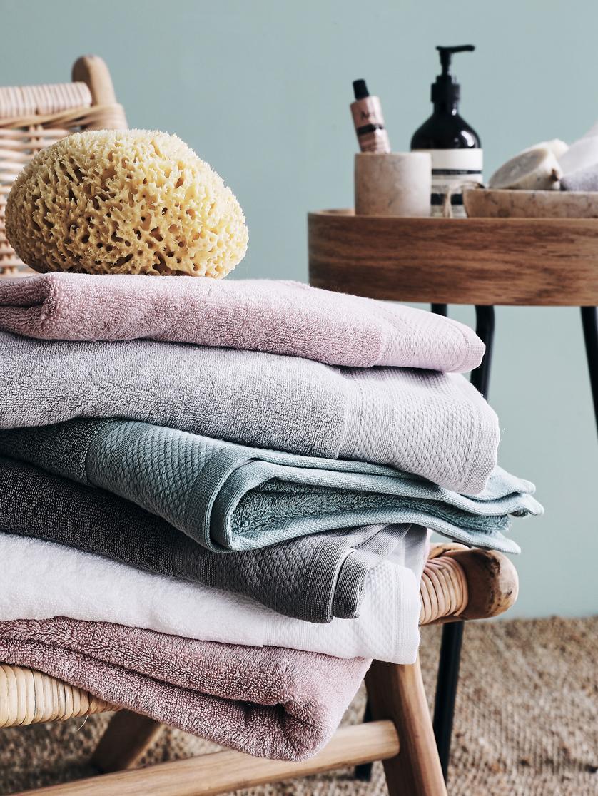 Handtuch-Set Premium mit klassischer Zierbordüre, 3-tlg., Weiß, Sondergrößen