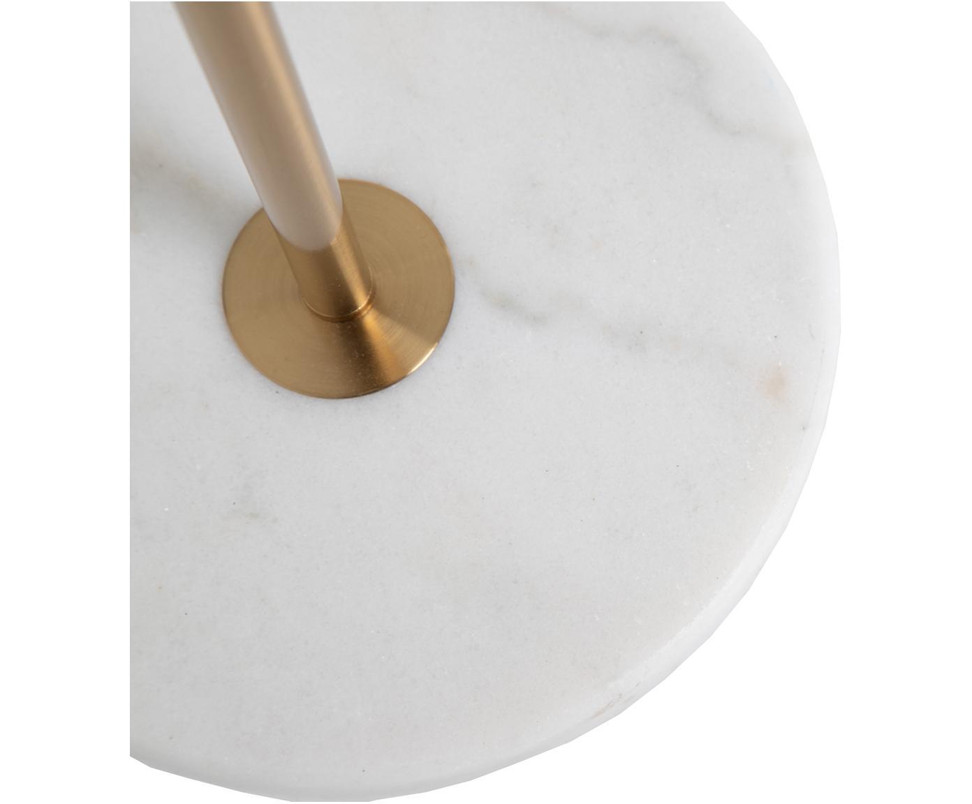 Stehlampe Opal mit Marmorfuß, Metall, Glas, Messingfarben, Weiß, Pastellfarben, 25 x 144 cm