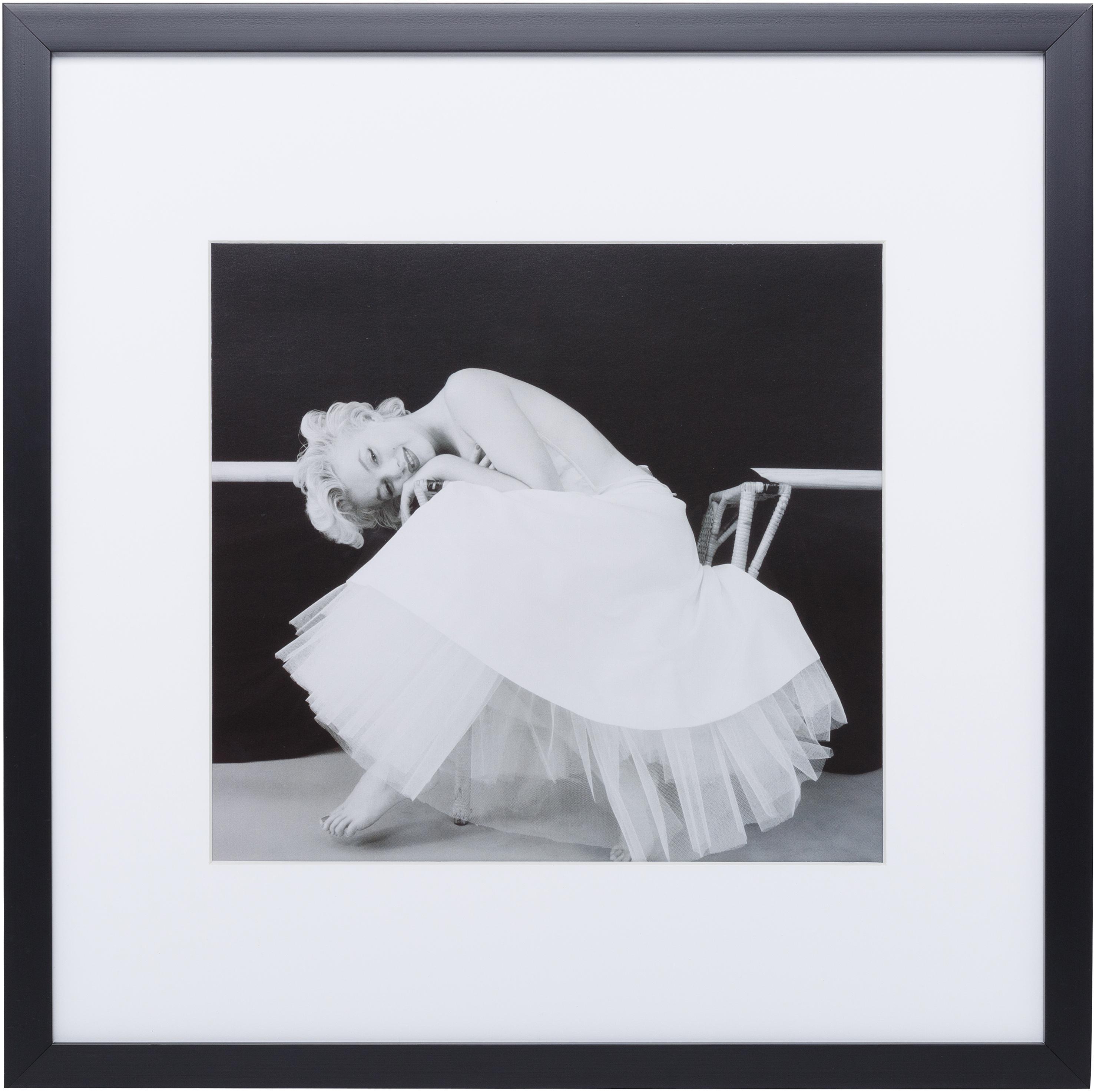 Impresión digital enmarcada Dancing Queen, Ilustración: negro, blanco Marco: negro, An 40 x Al 40 cm