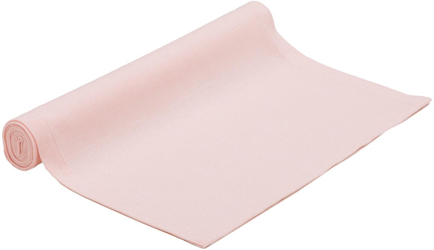 Tischläufer Riva, 55%Baumwolle, 45%Polyester, Rosa, 40 x 150 cm