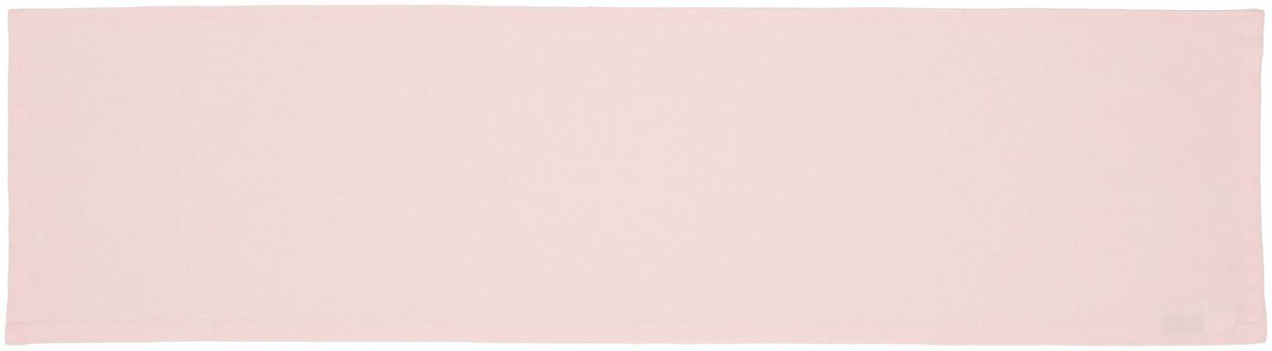 Runner da tavolo Riva, 55% cotone, 45% poliestere, Rosa, Larg. 40 x Lung. 150 cm